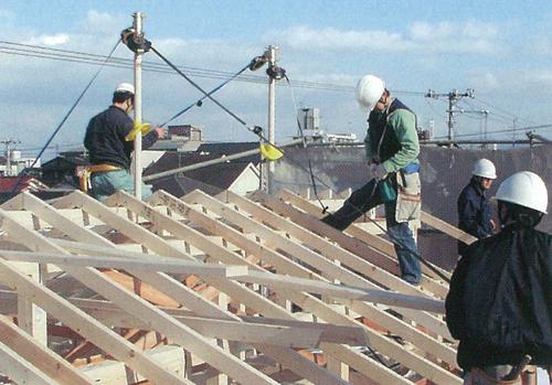 木造住宅屋根からの転落防止支柱と受金具一覧 通販 | カナマル ...